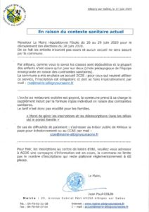 thumbnail of 2020-06-11- informations aux familles de la part de Mr le Maire